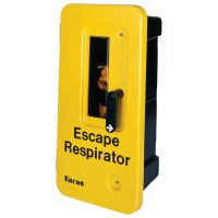 ENCON Single Unit Wall-Mount Escape Respirator Cabinet Yellow