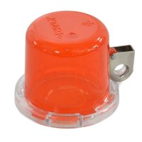 BRADY Push Button Lockout Device (22 mm), Red, with Standard Cover