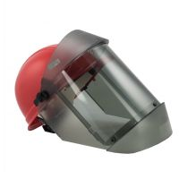 12 Cal Arc Flash Face Shield and Hard Cap, TCG™ True Gray Color