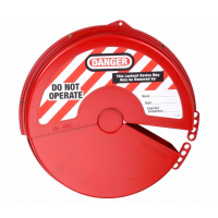 Gate Valve Lockout, Thermoplastic, Red, 8