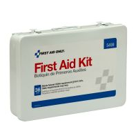 36 Unit First Aid Kit With BBP And CPR, Metal Case First Aid Only