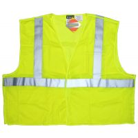 FRC Safety vest, Class 2 Mesh, 2 Pockets, Limited Flammability, Yellow, CL2MLPFR