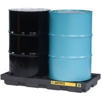 EcoPolyBlend™ Accumulation Center, 2 Drum, Recycled Polyethylene, Black