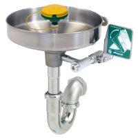 HAWS wall mounted, stainless bowl eye/face wash with eye/face wash head. 7360BT-7460BT