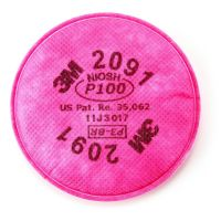 3M™Particulate Filter 2091, P100 Cartridge Filter for Reusable Mask