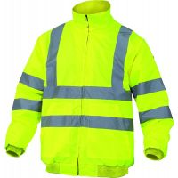 Delta Plus Reno Hi Vis Bomber With Removable Sleeves Winter Jacket