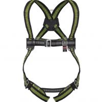 DeltaPlus Fall Arrester Harness, 1 Back Anchorage Point, Universal Size - HAA01