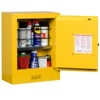 Justrite Sure-Grip® EX Mini Flammable Safety Cabinet, Transportable, Aerosols, 1 Manual Close Door, Yellow - 8902001