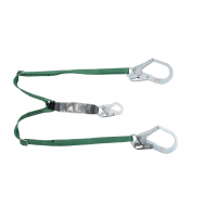 MSA V-Series 10191758 Twin-Leg Adjustable Energy Absorbing Lanyard, 6ft