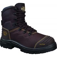 OLIVER 65-490 SAFETY 150MM BROWN LACE UP BOOT – WATERPROOF & CAUSTIC RESISTANT
