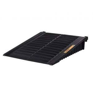 Ramp For 2 To 4-Drum EcoPolyBlend™ DrumShed™, Recycled Polyethylene, Black