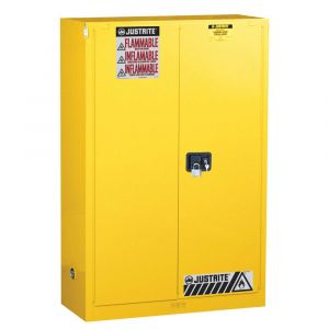 Justrite Sure-Grip® 8945201 EX Flammable Safety Cabinet, 45 Gallon, 2 Self-Close Doors, Yellow