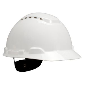 3M™ H-701V Hard Hat, Vented 4-Point Ratchet Suspension/ White