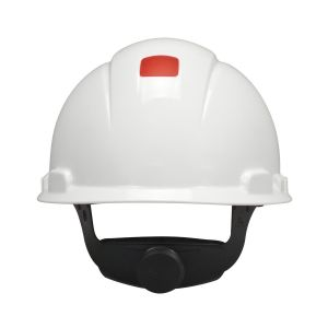 3M™ H-701R-UV Hard Hat,  With Uvicator 4-Point Ratchet Suspension/ White