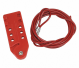 Cable Lockout, Plastic, 10 ft., Tab-Cinching Cable Lockout Style